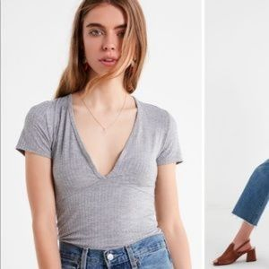 Urban Outfitters Truly Madly Deeply plunging tee